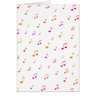 Notas musicales coloridas: tarjeta de felicitación