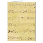 Notas musicales de la antigüedad del Grunge del Tarjeta De Felicitación