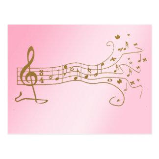 NOTAS MUSICALES SOBRE PENTAGRAM DE LA DIVERSIÓN - POSTAL