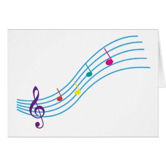 Notas musicales tarjeta