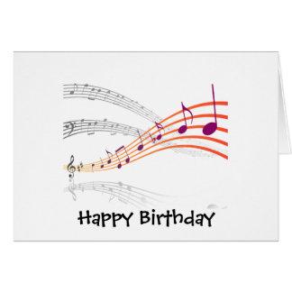 Notas musicales tarjeta de felicitación