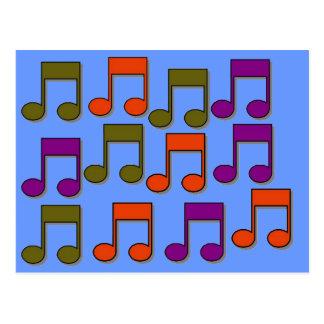 Notas musicales postales