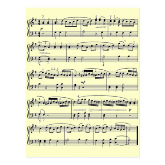 notas musicales postal
