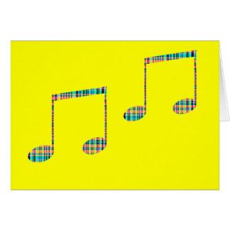 notas musicales tarjetas
