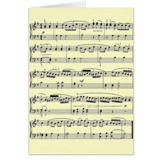 notas musicales tarjeton