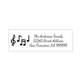 Notas musicales - uno mismo que entinta el sello