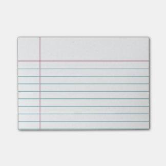 Notas pegajosas alineadas personalizable del papel
