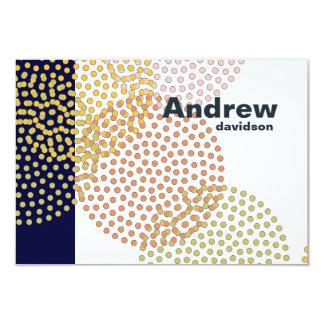 Notas personalizadas círculos punteadas invitación 8,9 x 12,7 cm