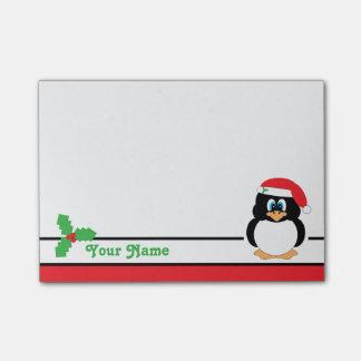 Notas personalizadas del Poste-it® del pingüino