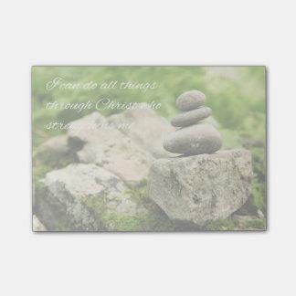Notas Post-it® 4:13 de equilibrio de los filipenses de las rocas