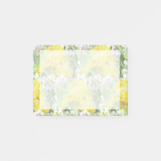 Notas Post-it® Acuarela alta amarilla del iris barbudo