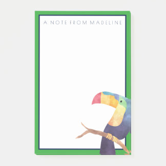Notas Post-it® Acuarela tropical Toucan del |