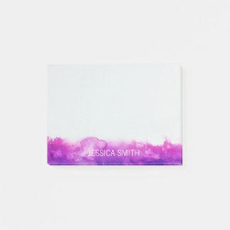 Notas Post-it® Acuarela violeta púrpura personalizada de la