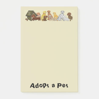 Notas Post-it® Adopte a un mascota