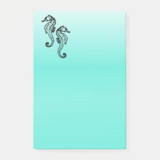 Notas Post-it® Aguamarina de los Seahorses