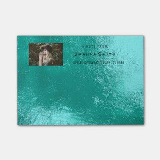 Notas Post-it® Aguamarina de Tiffany del océano del nombre de la