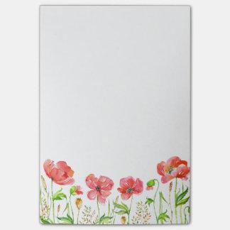 Notas Post-it® Amapolas rosadas