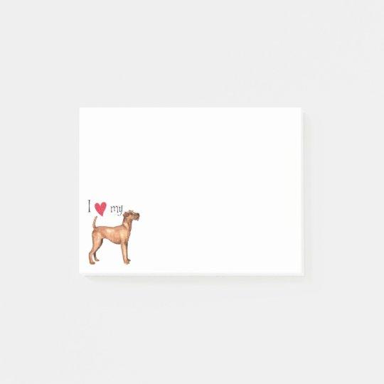 Notas Post-it® Amo mi Terrier irlandés