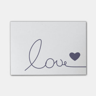 Notas Post-it® Amor de Purple Heart