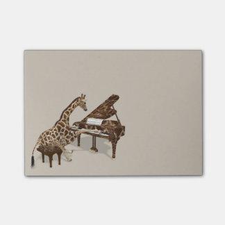 Notas Post-it® Amores dulces de la jirafa para jugar el piano