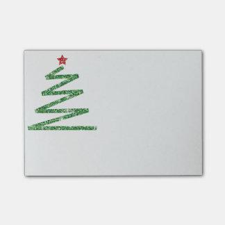 Notas Post-it® Árbol de navidad del brillo