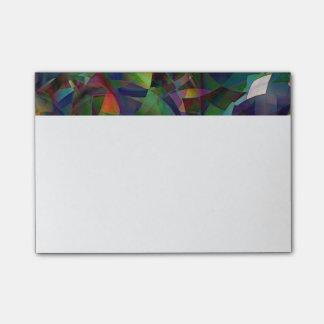 Notas Post-it® Arte abstracto colorido, caleidoscópico