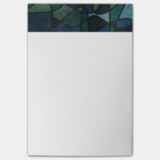 Notas Post-it® Arte abstracto del vitral de Digitaces del trullo