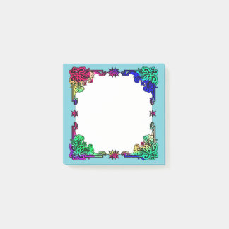 Notas Post-it® Arte popular colorido bohemio floral gitano de