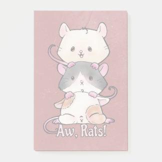 Notas Post-it® ¡Aw, ratas!