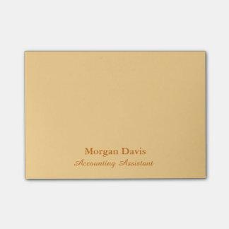 Notas Post-it® Ayudante de la contabilidad del oro