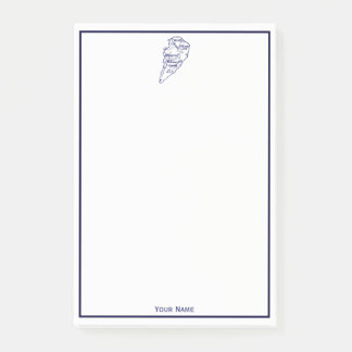 Notas Post-it® Azules marinos del mapa del vintage del SC de