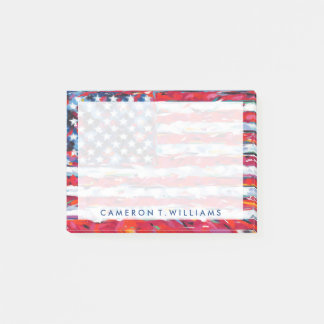 Notas Post-it® Bandera americana