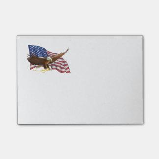 Notas Post-it® Bandera americana y Eagle