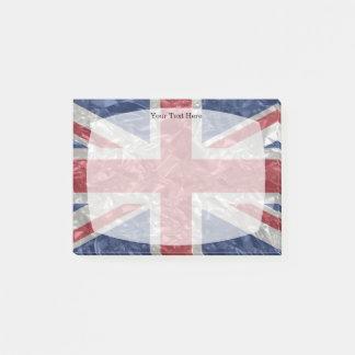 Notas Post-it® Bandera de Union Jack - arrugada