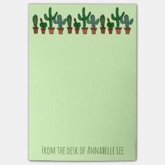 Notas Post-it® Bandera del cactus