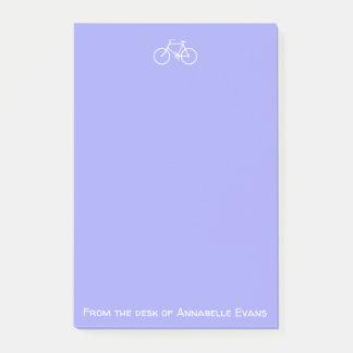 Notas Post-it® Bicicleta blanca en violeta