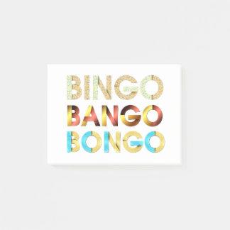 Notas Post-it® Bongo de Bango del bingo de la CAMISETA
