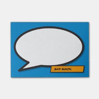 Notas Post-it® Burbuja del discurso del arte pop del cómic