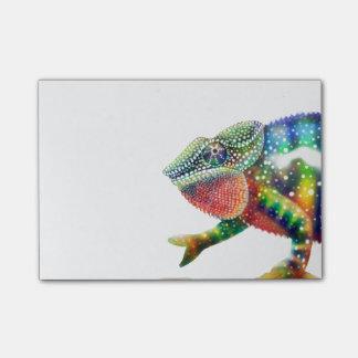 Notas Post-it® Camaleón colorido de la pantera