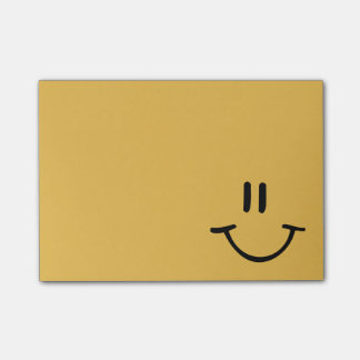 Notas Post-it® Cara feliz amarilla