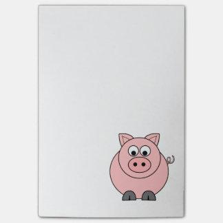 Notas Post-it® Cerdo rosado gordo