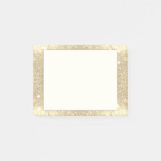 Notas Post-it® Chispa clásica del encanto del brillo del oro