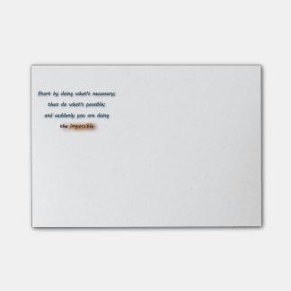 Notas Post-it® Cita inspiradora - comience haciendo cuál es…