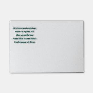 Notas Post-it® Cita inspiradora - la vida llega a ser