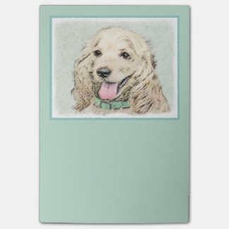 Notas Post-it® Cocker spaniel (piel de ante)
