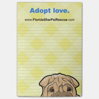 Notas Post-it® Cojín del post-it de FSPR - adopte el amor