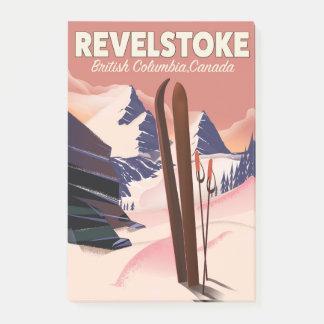Notas Post-it® Columbia Británica de Revelstoke, poster del esquí