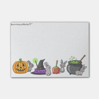 Notas Post-it® Conejitos fantasmagóricos de Halloween
