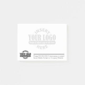 Notas Post-it® Contacto comercial básico Info con el logotipo