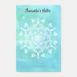 Notas Post-it® Copo de nieve abstracto